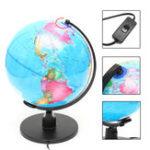 Оригинал 25 см 220V World Globe LED Освещенный ночной свет Лампа Главная комната Офисный декор Детский подарок