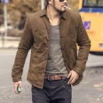 Оригинал Мужчины Осень Зима Винтаж Модные Тонкий Легкая теплая мягкая куртка