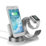 Оригинал 3 In 1 Алюминиевый сплав Зарядное устройство Настольный телефон для iPhone / Apple Watch / Apple AirPods / Apple Pencil