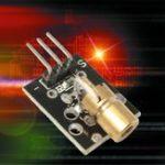 Оригинал 5Pcs KY-008 5V 3pin 650nm Передатчик Точечный диод Медь Головка Red Лазер Модуль для Arduino AVR PIC DIY