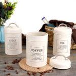 Оригинал 3Pcs Резервуары для хранения канистры Чай Кофейный сахарный олово Банка Контейнер из нержавеющей стали Can Kitchen