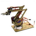 Оригинал 4 DOF Несанкционированный акрил DIY Рука робота Набор с 4 шт. SG90 Сервопривод для Arduino Производитель Обучение