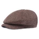 Оригинал Мужчины Зима Classic Винтаж Pinstripe Fine Twill Berets Cap