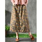 Оригинал Винтаж Резиновая юбка из эластичной талии