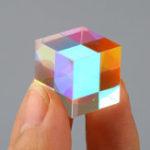 Оригинал 3x3x3cm Волшебный Cube Dichroic Cube Prism RGB Combiner Splitter DIY Украшение