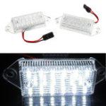 Оригинал 2Pcs 3W 18-SMD LED Лицензия Пластина Свет Лампа Ошибка Бесплатно 6000K Белый для Mitsubishi Lancer 03-17