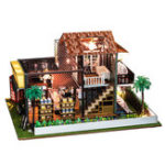Оригинал iiE СОЗДАТЬ K-035F Cafe Dollhouse DIY Дом Play Doll House Wooden