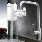 Оригинал Электрическая горячая вода Нагреватель Смеситель Ванная комната Кухонный нагреватель Tap Digital Дисплей IPX4 Водонепроницаемы