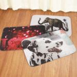 Оригинал 40x60CMНескользкиековрикидляванныхкомнат Коврик для ковров LOVE Rose Elephant Собака Коврики для ковров на заказ