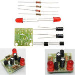 Оригинал 5pcs DC 3-14V DIY Простые LED Красные комплекты цепей фонарика DIY Мультигармонические осциллирующие электронные цепи Наборы для печатной платы + эл
