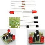Оригинал 10pcs DC 3-14V DIY Простые LED комплекты красных фонарей DIY Multiharmonic Осциллирующая электронная цепь устанавливает плату PCB + электронные компоненты +