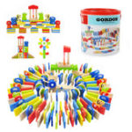 Оригинал TopBright-6995 150 PCS Blocks Domino Warm Elephants Fun Clubs Обучающие игрушки