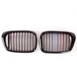 Оригинал Передняя черная широкая решетка решетки для почек BMW E39 525 528 530 535 M5 1997-2003