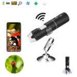 Оригинал 2MP Full HD 1080P WIFI Digital 1000x Microscope Magnifier камера для iPhone ios Android iPad Встроенная перезаряжаемая литиевая батарея с подсветкой 8 LED
