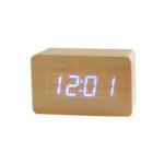 Оригинал Современный электронный Часы Time Watch Digital Wooden Alarm Часы Водонепроницаемы Creative Gift