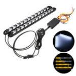Оригинал 12V 2шт 2835 Переключатель поворота Сигнальная фара LED Полоса DRL Light Трубка Водонепроницаемы