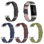 Оригинал Bakeey Bamboo Шаблон Часы Стандарты Крокодил Шаблон Кожаный ремешок для Fitbit Charge 3
