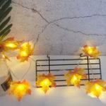 Оригинал 1.5M 3M 4M Батарея Приведено в действие LED Кленовые листья Fairy String Light Christmas Thanksgiving Garland Лампа