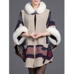 Оригинал Толстая печать 3/4 Sleeve Elegant Coats Shawl
