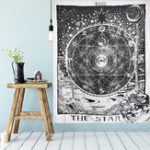 Оригинал 210см Sun Star Moon Tarot Гобелен Hippie Wall Hanging Blanket Room Home Decor