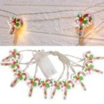 Оригинал Батарея Powered 2M Warm White Candy Shape Holiday Christmas Party 20 LED Fairy String Light