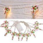 Оригинал Батарея Powered 2M Warm White Candy Shape Holiday Christmas Party 20 LED Fairy String Light