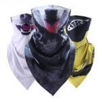 Оригинал Unisex Animal Print Anti-UV Triangle Half Face Маска Шарф