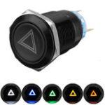 Оригинал 19 мм 12V LED Нажимная кнопка Вкл. Выкл. Сигнальный выключатель сигнальной лампы опасности для Авто Грузовик Лодка