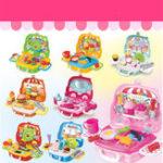 Оригинал ПрикольныеигрыSetKidsDreamЧемодан Воспитательная ролевая игра Boys Girls Blocks Toys Set