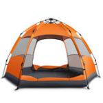 Оригинал Наоткрытомвоздухе3-5человекАвтоматическая палатка Водонепроницаемы Двойной слой Sunshade Rain Shelter Hiking Кемпинг