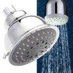 Оригинал 4 дюймов Экономия воды 5 Функция Круглый полированный душ