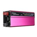 Оригинал 1500W LED Солнечная Инвертор мощности 12 / 24V до 110 / 220V модифицированный преобразователь синусоидальной волны