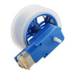 Оригинал 10Pcs Blue Rubber Колеса + 3-6v TT Motors DIY Набор Для Arduino Smart Chassis Авто Аксессуары