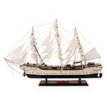 Оригинал 80 см 3D Tall Ship Warship Деревянные парусные лодки Модель Морской домашний декор Коллекционная игрушка Kids Gift
