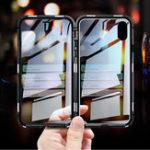 Оригинал Bakeey360ºПередняяизадняястеклянная металлическая магнитная адсорбция Чехол для iPhone XR / XS/XS Max / X / 7/7 Plus/8/8 Plus