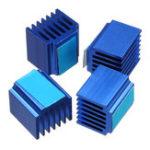 Оригинал Охлаждающий радиатор 4PCS 14 * 13 * 20 мм с задним клеем для TMC2100/2130/2208 Stepper Мотор Часть принтера для принтера 3D