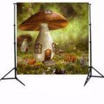 Оригинал 10x10ft Sunshine Forest Mushroom House Фотография Фон Студия Prop Background