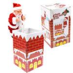 Оригинал Рождественский подарок Санта-Клаус Climb Chimney 8.3 дюймов Музыка Играть Новинки Электрические игрушки