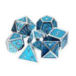 Оригинал Многогранные кубики Твердый металл Набор тяжелых кубиков Полиэдральные кубики Ролевые игры Dice Gadget RPG