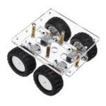 Оригинал Mini N20 4WD Smart Acrylic Chassis Авто DIY Набор с 4Pcs N20 Двигатели для Дистанционное Управление