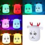 Оригинал Новинка Cute LED Перезаряжаемый Силиконовый Двойная лампа с подсветкой Управление дверью для спальни Home Decor Лампа Kids Gift