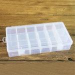 Оригинал Пластиковые ювелирные изделия Коробка Органайзер Контейнер для хранения DIY Ремесла Детали Отделение Разделитель Clear Slot Коробка