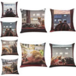 Оригинал ХонанaBX45x45cmКотШаблонРоскошная подушка Покрывало Graffi Style Throw Pillow Чехол Подушки Чехлы