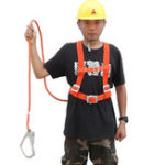 Оригинал PPFiberSingleКрюкБезопасностьРемень 2/3M Безопасное скалолазание Веревка Защитное снаряжение для защиты от капель
