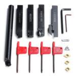 Оригинал 5шт16ммТокарныйстаноктокарнойобработки Инструмент Сверлильный станок для сверления CNC Набор Набор с карбидными вкладышами и гаечным