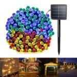 Оригинал 6M 8 Режимы Солнечная Powered 40 LED String Light На открытом воздухе Christmas Holiday Лампа