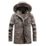 Оригинал Mens Winter Thickened Warm Съемный с капюшоном На открытом воздухе Куртка