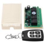 Оригинал DC12V 4CH Код обучения Дистанционное Управление Коммутатор Momentary / Toggle / Latche 315M / 433M