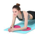 Оригинал KALOAD1параколенодляног Yoga Коврики с двухсторонней круглой пеной Спорт Упражнение отжима Фитнес Защитное снаряжение