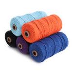 Оригинал 5 Цвет 3 мм 100M DIY Длинный Macrame Colorful Хлопок витой шнур Веревка Ручные ремесла Струнные плетеные Провод
